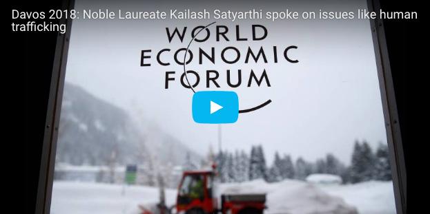 Davos 2018: Noble Laureate Kailash Satyarthi spoke on issues like human trafficking