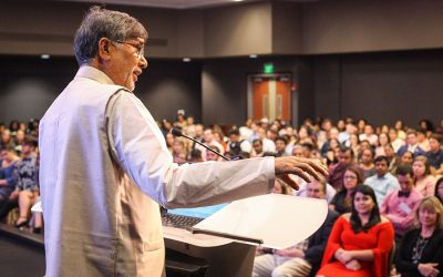 Nobel Peace Prize recipient Kailash Satyarthi speaks at PeaceJam Southeast Conference