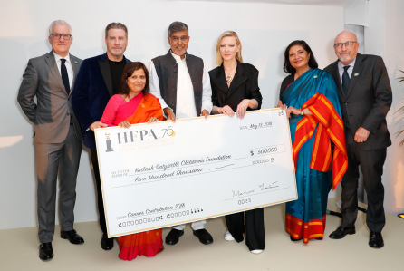Hollywood Foreign Press Awards $500,000 To Kailash Foundation At HFPA/Participant Media Bash – Cannes