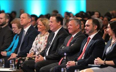 King Attends Laureates and Leaders for Children Summit