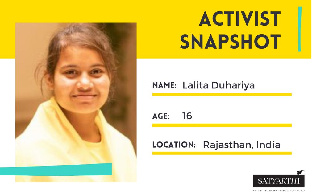 Activist Snapshot: Lalita Duhariya on COVID-19's Impact on Children